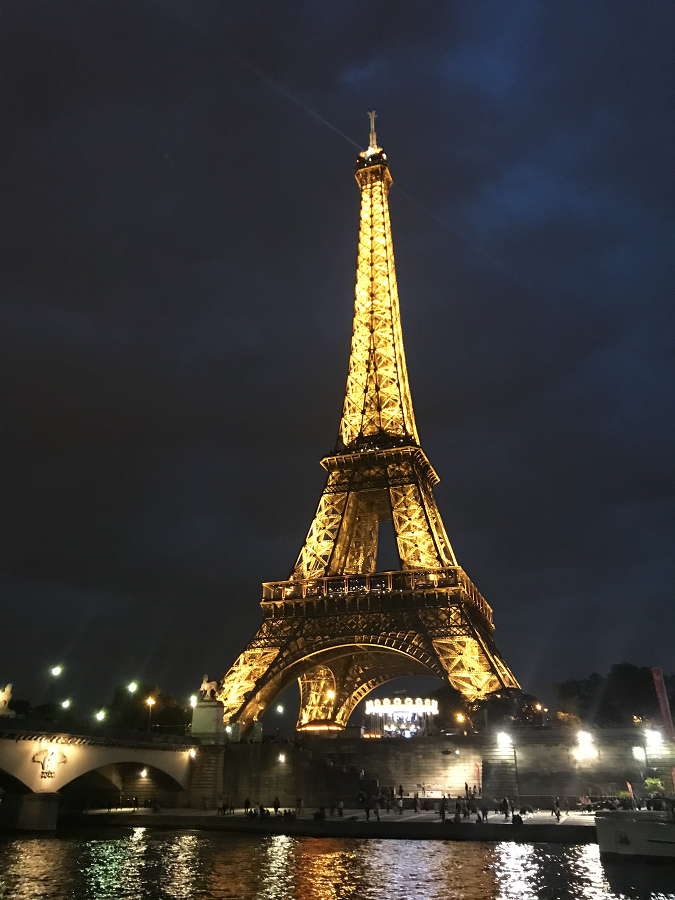 Eiffel Tower Night Sparkle