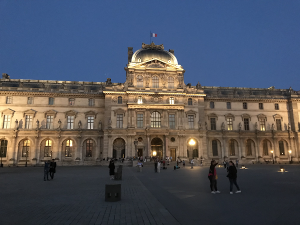 Louvre at night Paris