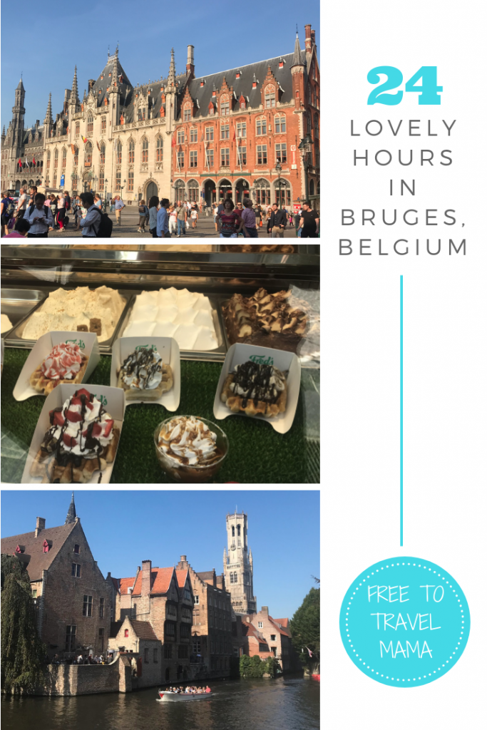 Are you looking for the sweetest, most picturesque European city ever to visit for a day or two? Look no further than quaint Bruges. We had a wonderful time walking the cobblestone streets, cruising in the canal, and eating chocolate and waffles. Check out our one day itinerary here! #bruges #freetotravelmama #belgium