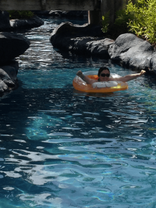 Tubing down the lazy river at the gorgeous Grand Hyatt Kauai is one of our favorite things to do in Kauai with children.