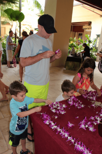 Lei Making is free at the Grand Hyatt Kauai and one of the best things to do in Kauai with children. Click here to read the rest of our top tips!