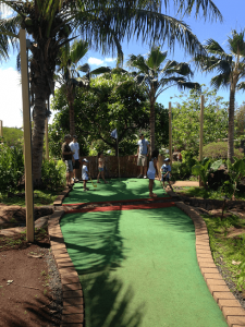 Kauai is mini golf is one of many of our favorite things to do in Kauai with children.
