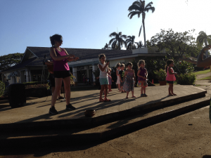 One of the best things to do on Kauai with children also happens to be free: Poipu Village Hula Show