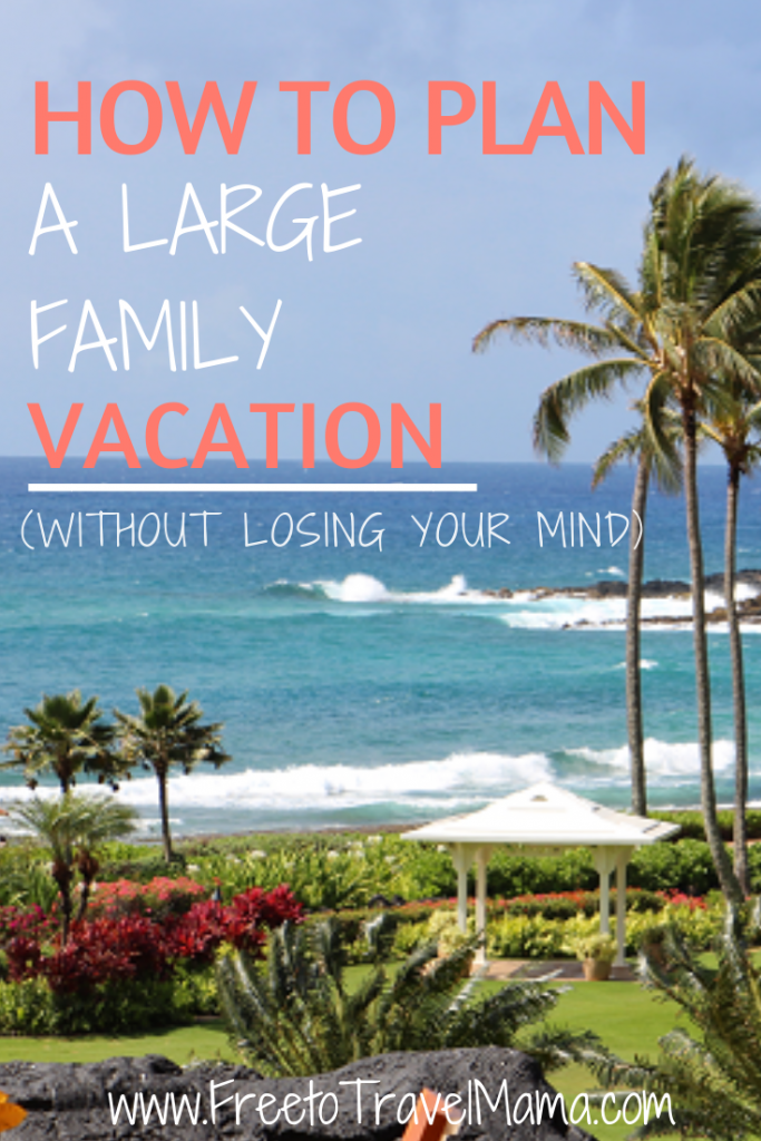 Planning a large family can be so much work! But the payoff is worth it! Check out our top tips for planning the best family vacation stress-free!