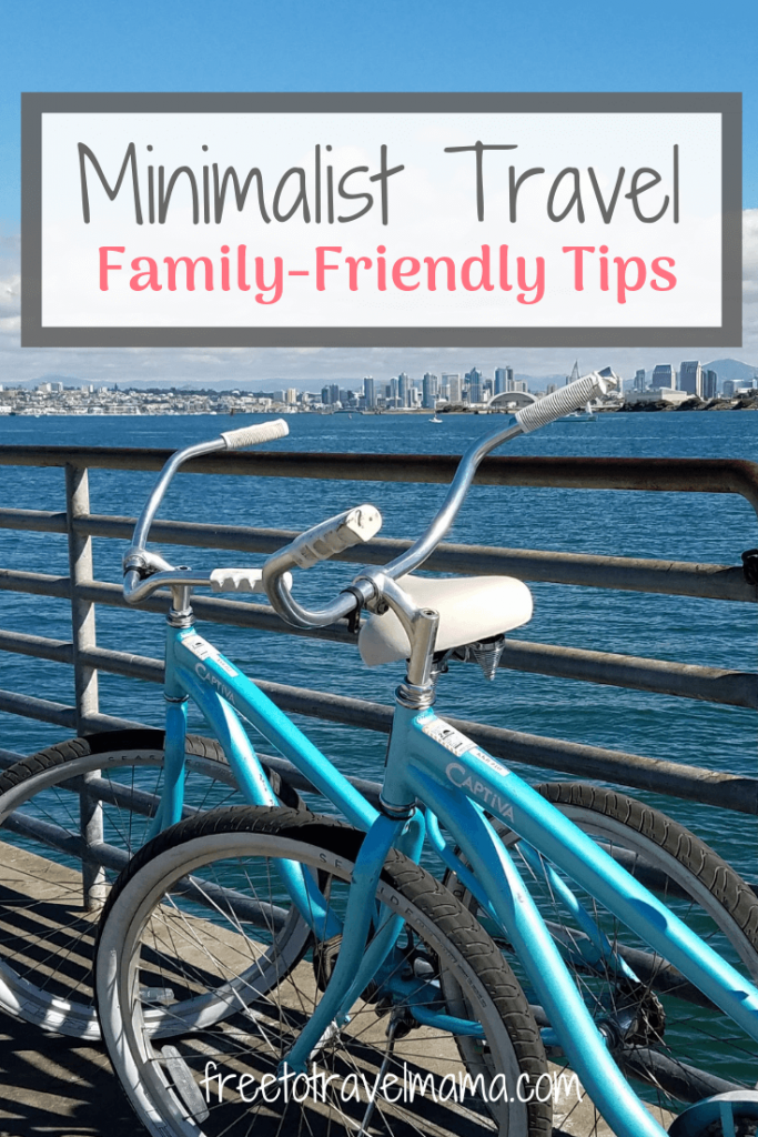 When trying to achieve the goal of minimalist travel, for most families, the concept of packing lightly comes to mind. And that is definitely part of it – and perhaps the most difficult with children! However, minimalist travel goes beyond whether or not you pack in a carry-on only, and reaches out to all aspects of your trip. #freetotravelmama #minimalisttravel #familyvacation