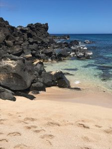 Three Tables Beach in North Shore, Oahu - great for snorkeling