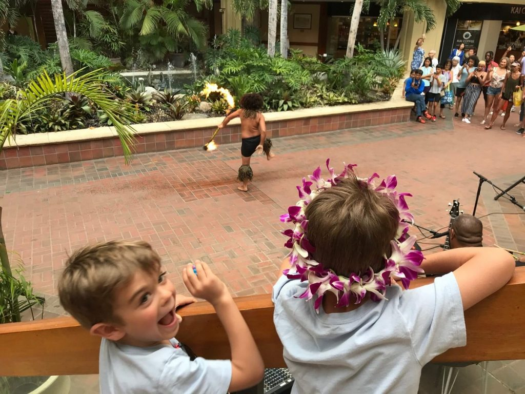 Waikiki Beach Fire Dancer Show at Hyatt Regency