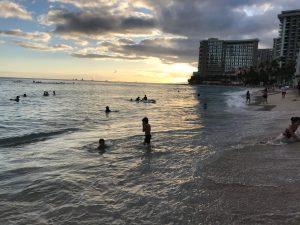 Oahu Itinerary: Waikiki Beach at Sunset