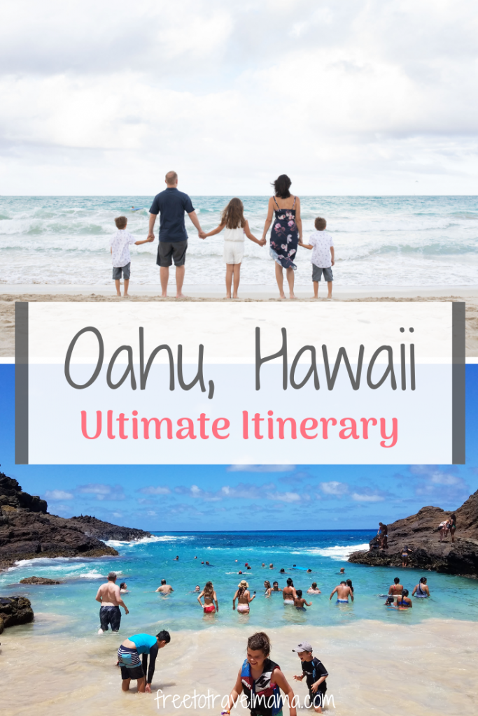 Aloha! Heading to Oahu? Check out our best itinerary with tips for seeing the hottest spots, finding hidden gems, and soaking up paradise. #freetotravelmama #hawaii #oahu