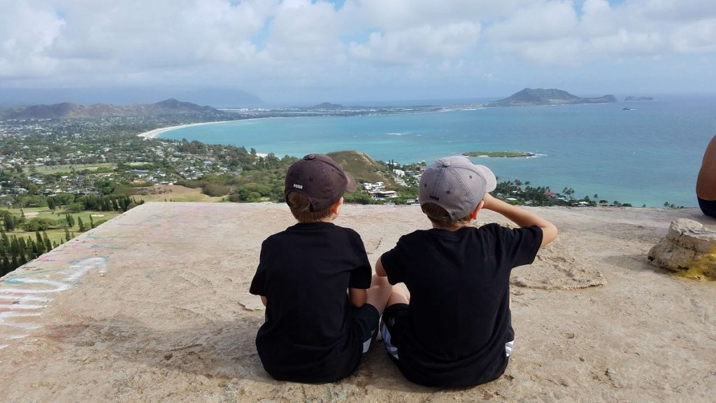 Lanikai Pillbox Hike - hiking with kids on Oahu