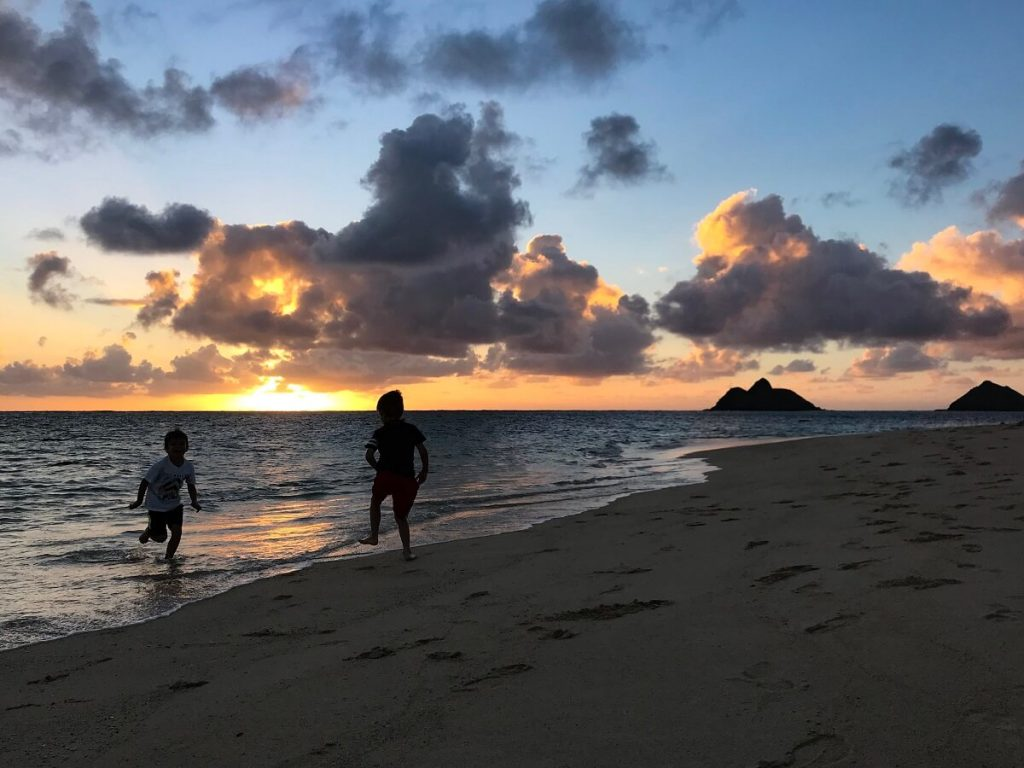 lanikai beach sunrise, Oahu
