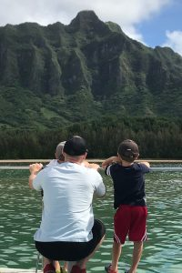 Oahu Itinerary 7 Days: View of Ko'olau Mountains from the Ocean Voyage Catamaran at Kualoa Ranch