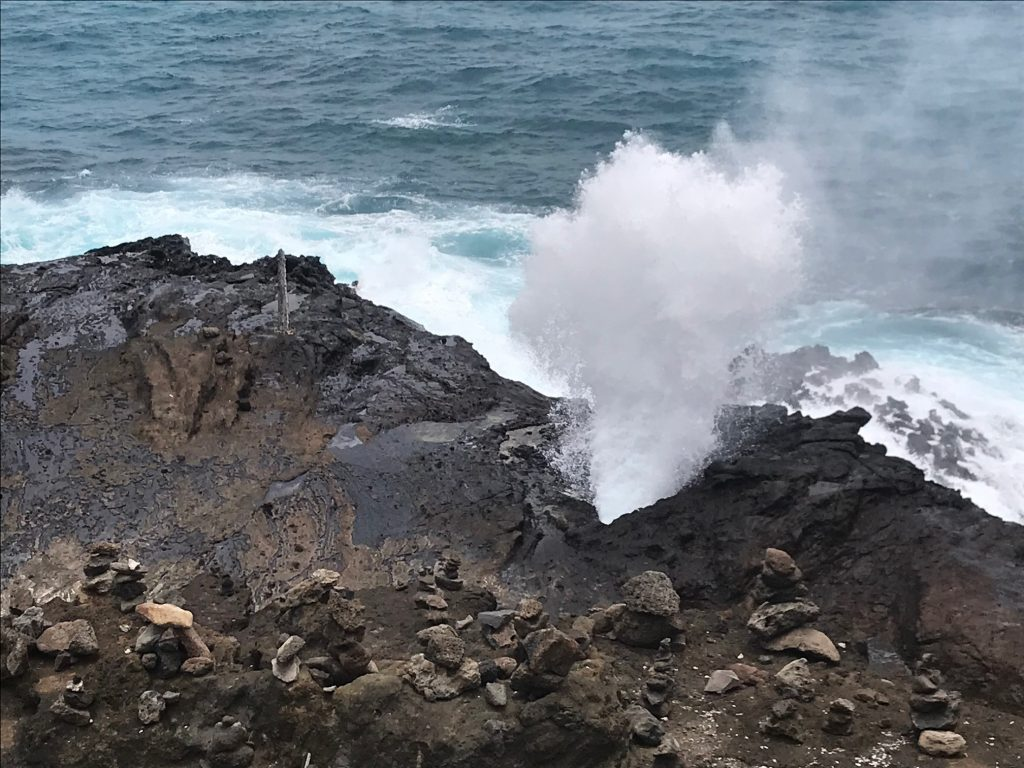 Halona Blowhole on Oahu, Hawaii