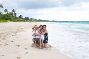 Family Photo on Kailua Beach, Oahu, Hawaii