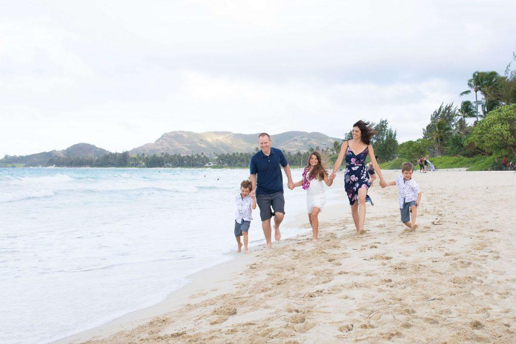 Family Photo on Kailua Beach, island of Oahu  #freetotravelmama | Oahu Hawaii Photography | Oahu Instagram Pictures |  Oahu Instagram Spots | Instagram Worthy Pictures in Oahu | Hawaii Instagram Pictures Oahu | Best Places for photos Oahu | Best Photo Spots Oahu