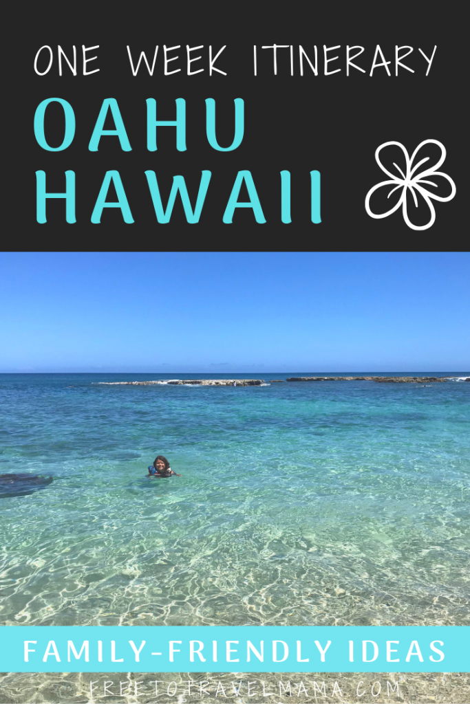 Here is our best Oahu Itinerary for 7 days to help you plan your vacation in paradise! Iconic spots, hidden gems, and planning details are all here to help you plan your best trip to Hawaii. #freetotravelmama #hawaii #oahu
