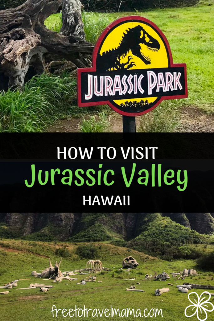 Did you know you can visit the real Jurassic Park Hawaii? Check out our list of the best ways to visit the filming locations at the beautiful Kualoa Ranch. #freetotravelmama #oahu #hawaii #jurassicpark