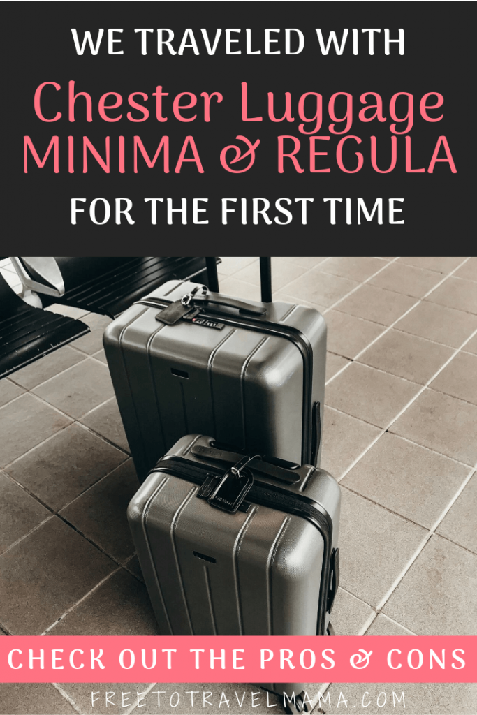 #sponsored It's amazing how something so simple as a good or bad set of luggage can affect a travel day. I've been in the market for the best hard shell luggage set out there, and was excited to try the #Chester Luggage. #freetotravelmama #luggage #packingtips