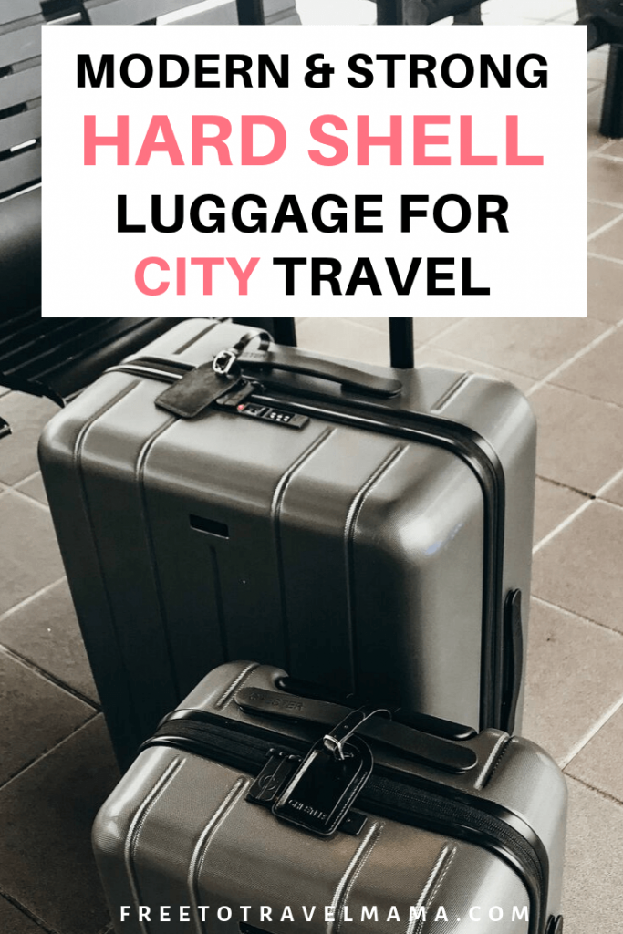 #sponsored | It's amazing how something so simple as a good or bad set of luggage can affect a travel day. I've been in the market for the best hard shell luggage set out there, and was excited to try #Chester Luggage. #freetotravelmama #luggage #packingtips