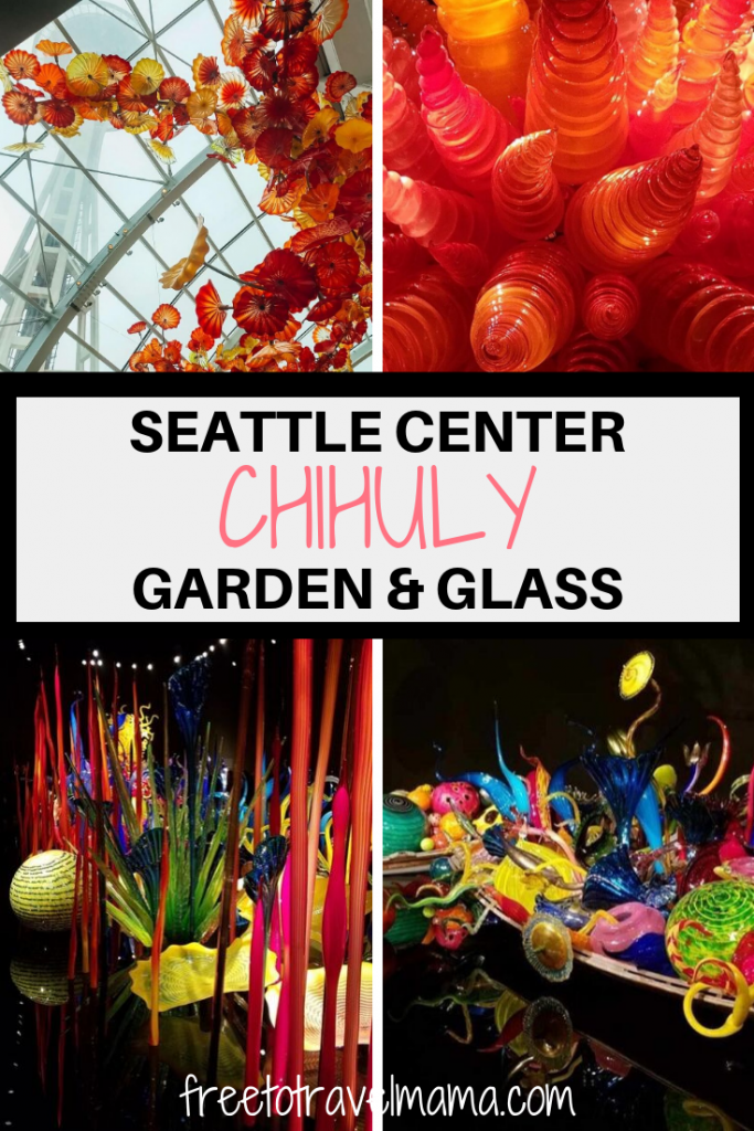 Seattle's museums top the charts for originality, and Chihuly Garden and Glass is no exception. The colorful, art pieces and glasshouse will take your breath away! #freetotravelmama #seattle #chihuly #chihulygardenandglass #sponsored