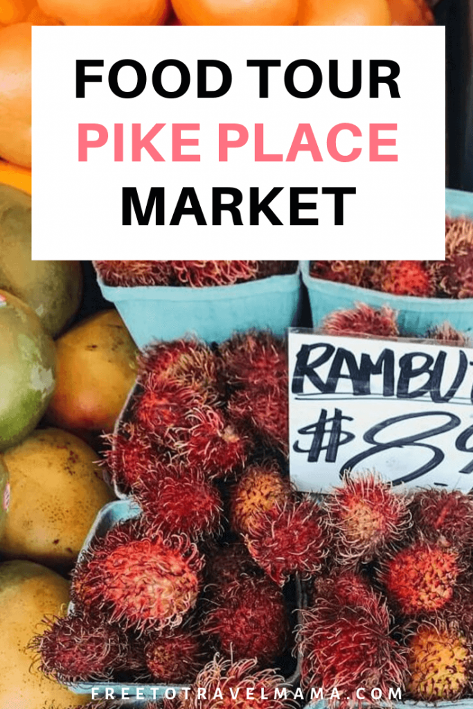 Clam chowder, chocolate, smoked salmon, greek yogurt, oh my! A tour at Pike Place Market with Eat Seattle Tours is the perfect addition to your itinerary. #freetotravelmama #seattle #eatseattle #pikeplace