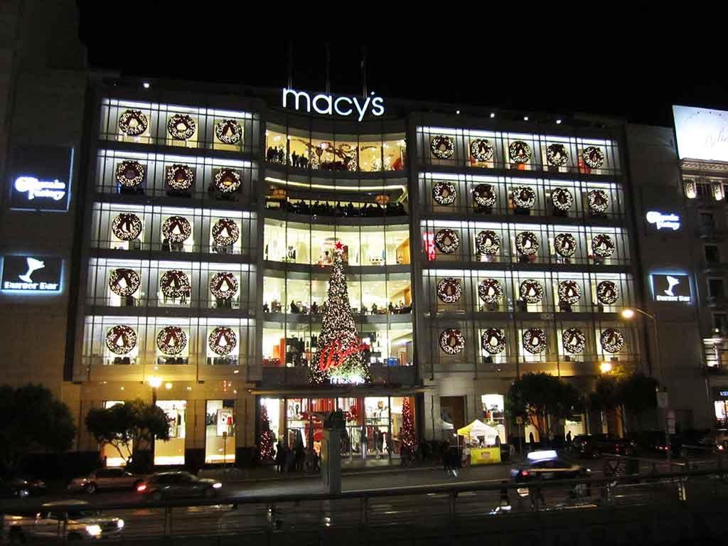 Christmas in California - San Francisco Macy's Tree Lighting