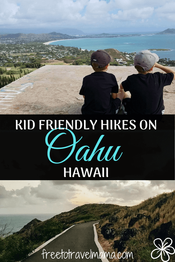 Here is your guide to kid friendly hikes on Oahu! Includes 6 options from adventurous to stroller-friendly! #freetotravelmama #oahu #oahuhikes #hikingwithkids
