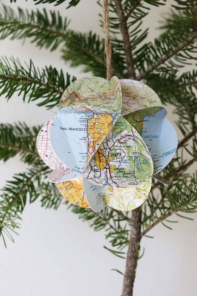 Travel Ornaments for Christmas Trees: California Map Ornament