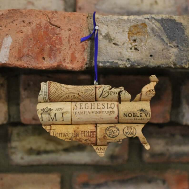 Wine Cork Travel Christmas Ornaments