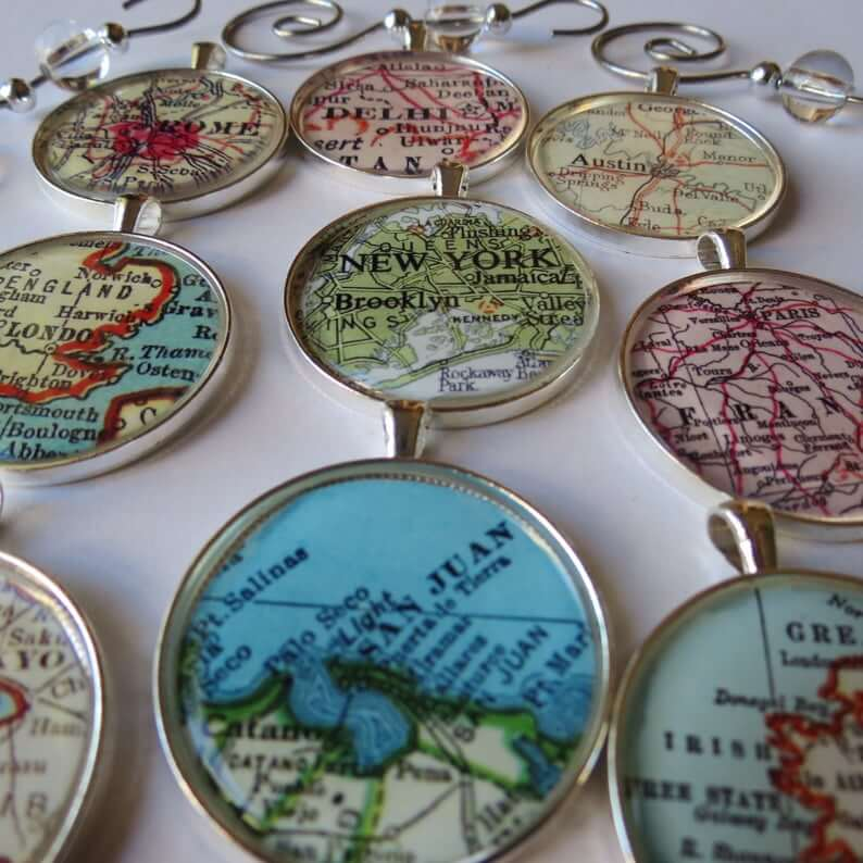 Travel Ornaments for Christmas Tree