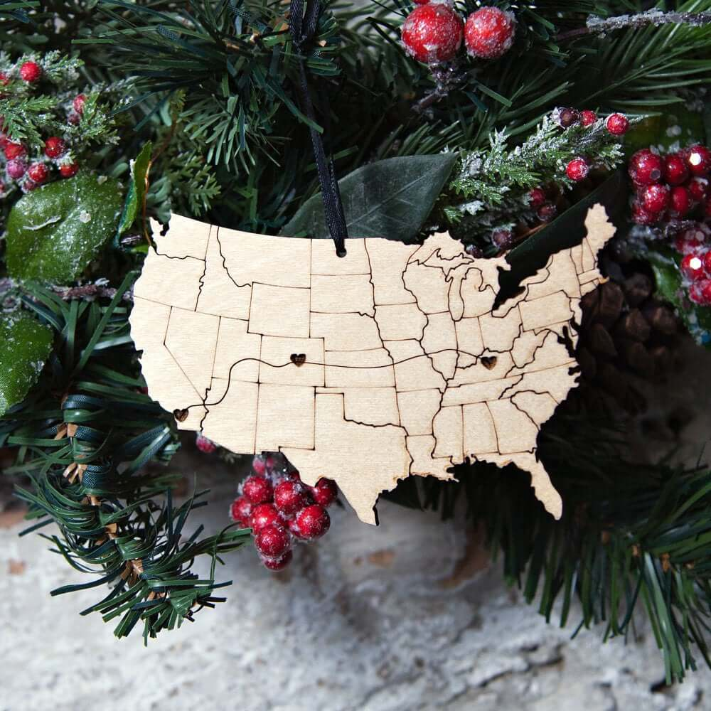United States Travel themed Christmas Ornaments