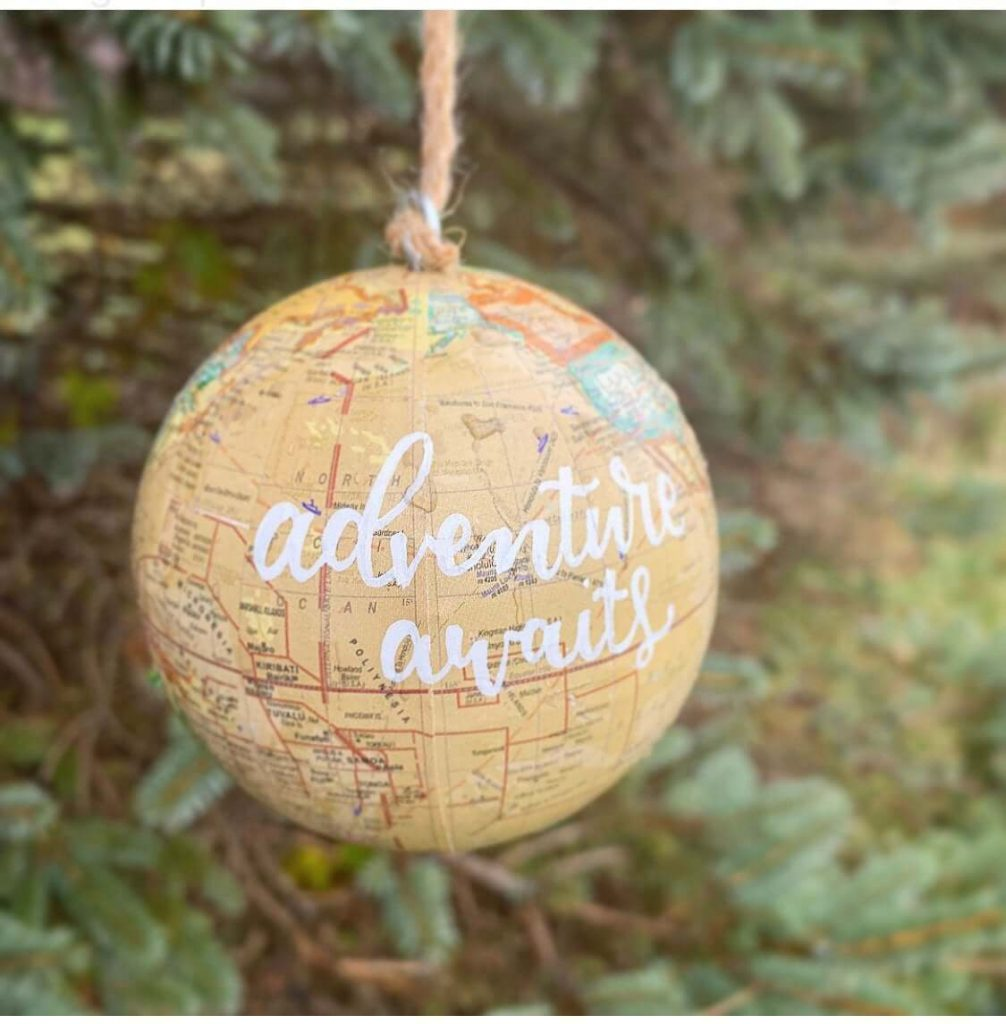Adventure Awaits Travel Christmas Ornaments