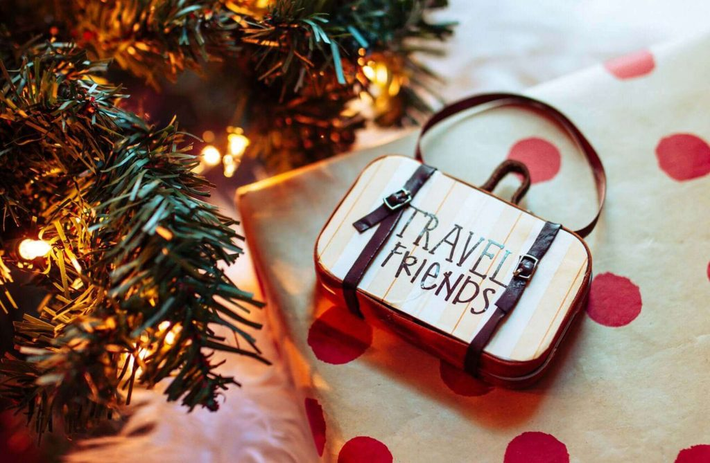 Mini Suitcase Travel Ornaments for Christmas Trees
