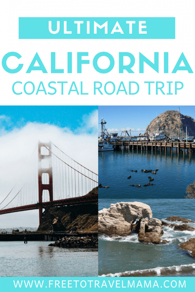 California Coast Road trip down Highway 1 from San Francisco to San Diego. With kids or without, this itinerary deserves to be on all bucket lists. From Northern California to Southern California, we've got you covered with budget and luxury recommendations. #freetotravelmama #sanfrancisco #california #californiaroadtrip