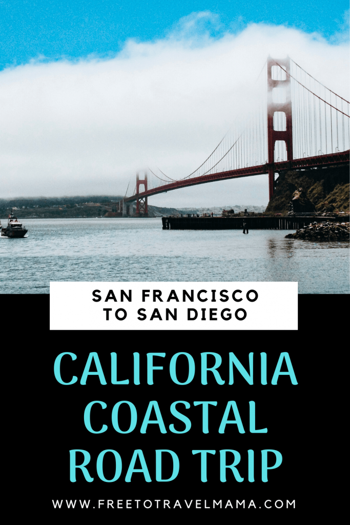 California's Highway 1,  San Francisco to San Diego  road trip is amazing! With kids or without, this itinerary deserves to be on all bucket lists. From Northern California to Southern California, we've got you covered with budget and luxury recommendations. #freetotravelmama #sanfrancisco #california #californiaroadtrip