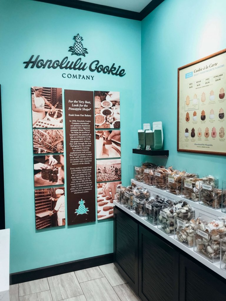 Honolulu Cookie Company, store interior  #freetotravelmama | Oahu Hawaii Photography | Oahu Instagram Pictures |  Oahu Instagram Spots | Instagram Worthy Pictures in Oahu | Hawaii Instagram Pictures Oahu | Best Places for photos Oahu | Best Photo Spots Oahu
