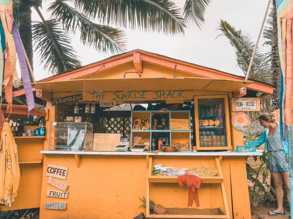 Sunrise Shack on Oahu North Shore  Oahu Hawaii Photography | Oahu Instagram Pictures |  Oahu Instagram Spots | Instagram Worthy Pictures in Oahu | Hawaii Instagram Pictures Oahu | Best Places for photos Oahu | Best Photo Spots Oahu